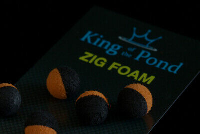 carp fishing Zig balls black foam qty 10