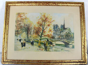 GRAVURE-LITHOGRAPHIE-signee-Charles-BLONDIN-et-numerotee-Dimensions-41-x-32