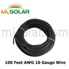 10 AWG 2000V Solar Panel Wire 100FT SunGen Cable UL 4703 Copper MADE IN US Gauge
