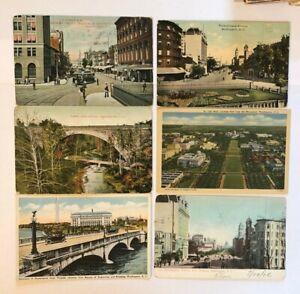 WASHINGTON-DC-Postcard-Lot-of-6-Pennsylvania-Ave-Cabin-John-Bridge-Mall