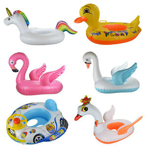 Schwimmring-Schwimmhilfe-Schwimmreifen-mit-Durchrutschschutz-Ente-XL-Einhorn-uvm