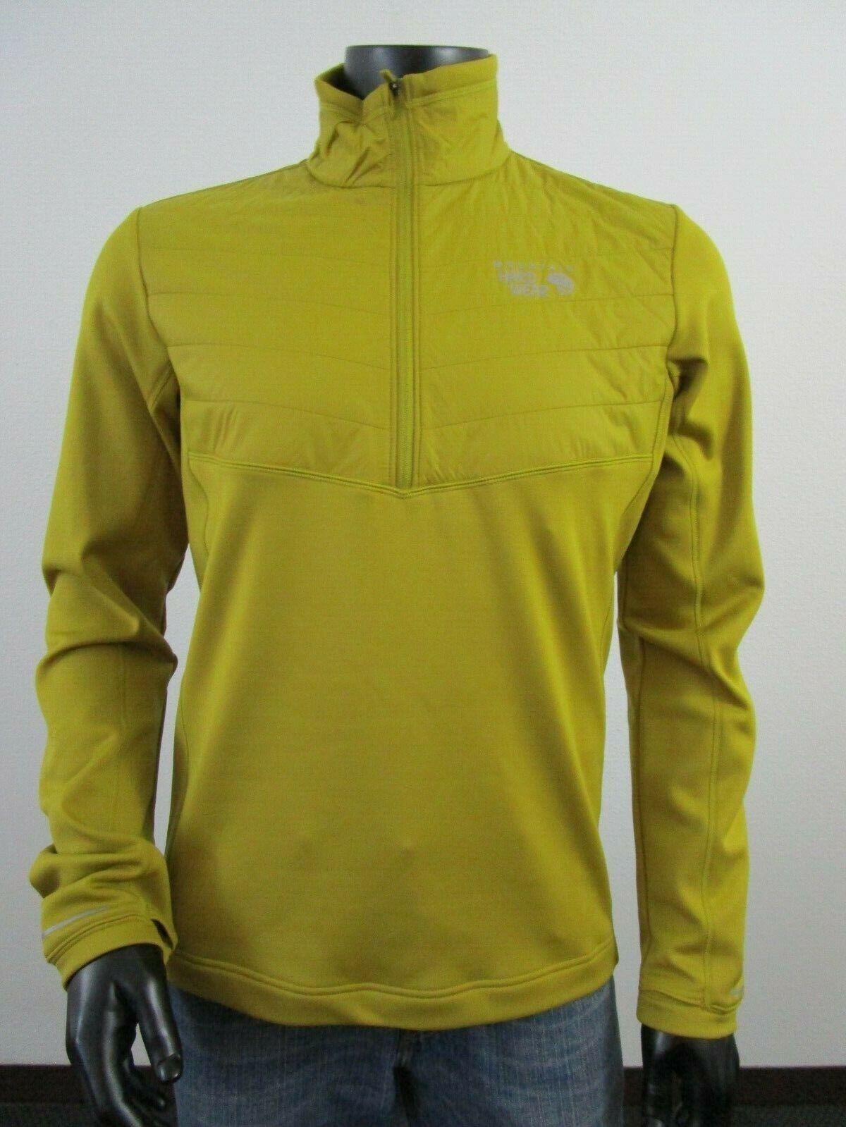 Mens M Mountain Hardwear 32 Degrees Insulated 1//2 Zip Fleece Top Jacket Citron