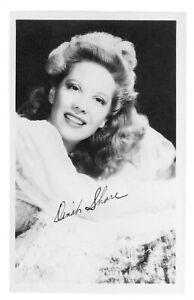 Vintage-Dinah-Shore-Postcard-printed-signature-1947