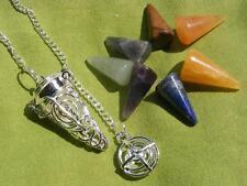 Chakra Cage Pendulum Cho Ku Rei Symbol, 7 Chakra Stones, Reiki Healing Dowsing.