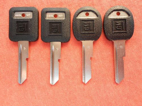 4  GM FIERO FIREBIRD TRANSAM NOS KEY BLANKS 1983 1984 1985 1986