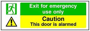 180X60MM-EXIT-FOR-EMERGENCY-USE-ONLY-SECURITY-PRINTED-VINYL-STICKER