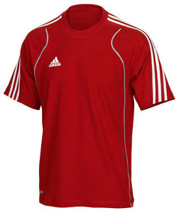 adidas-Maenner-T-Shirt-rot-Herren-Laufshirt-Sportshirt-Training-Fitness-Gr-XS