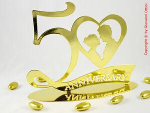 Anniversario Matrimonio 50 Anni.Cake Topper Anniversario Matrimonio 50 Anni Nozze D Oro Statuina
