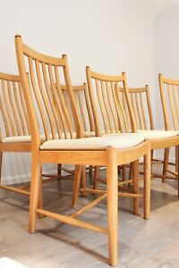 Quality-Vintage-Ercol-Windsor-Penn-Dining-chairs-Solid-Ash-Set-of-6