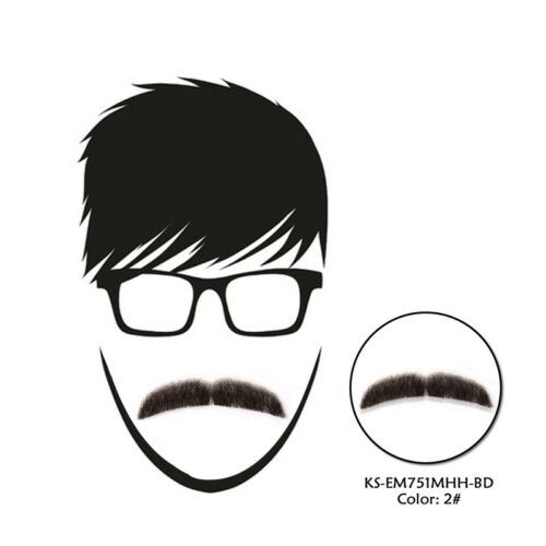 Natural 100/% Real Human Hair Beard Men Fake Mustache For Entertainment Party