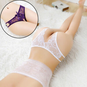 b8a3af344 Women Sexy Lace Briefs Open Crotchless Panties Knickers G-string ...
