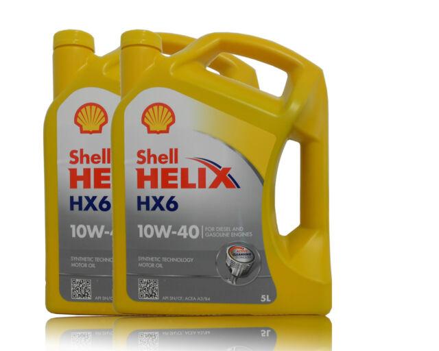 Shell Helix HX6 10W- 40 , 10W40 2x5 Litro Aceite Motor, MB 229.3 , VW 505 00