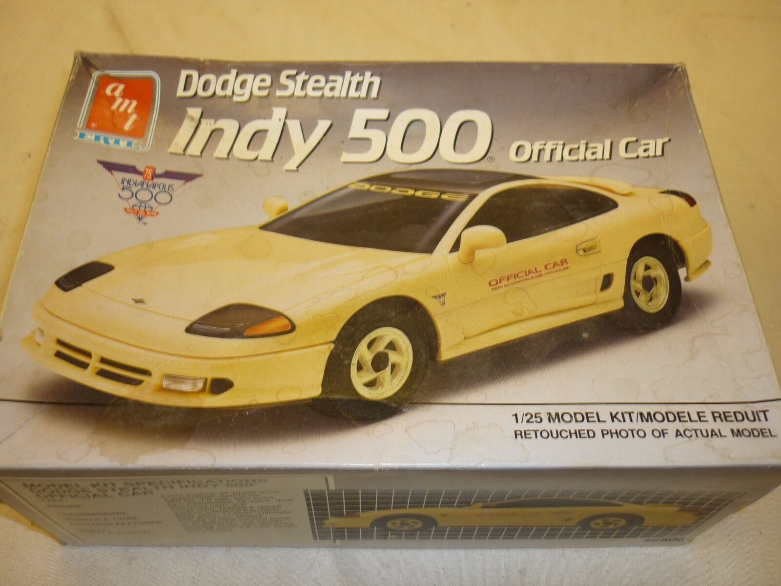 Amt un made plastic kit of a Dodge Stealth Indy 500, boxed