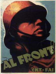 WAR SPANISH CIVIL CNT COMMUNIST HEROES SPAIN Poster Vintage Advertising