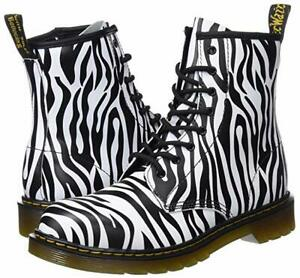9f087fff1933f Details about New Dr. Martens Womens Delaney Zebra Print Black White Boots  Size 7