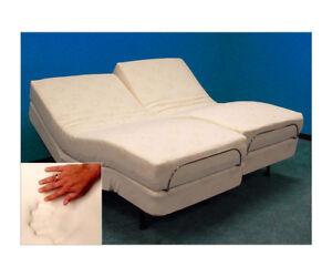 ADJUSTABLE BEDS LEGGETT PLATT 13 GEL CLOUD MEMORY FOAM & NEW TEMPURPEDIC PILLOW