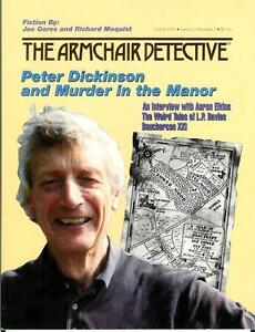 THE ARMCHAIR DETECTIVE Spr/91, rare US crime mag, Aaron ...