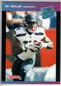 2019 Donruss Rated Rookie 1989 Instant #19 DK Metcalf RC Rookie Seattle Seahawks