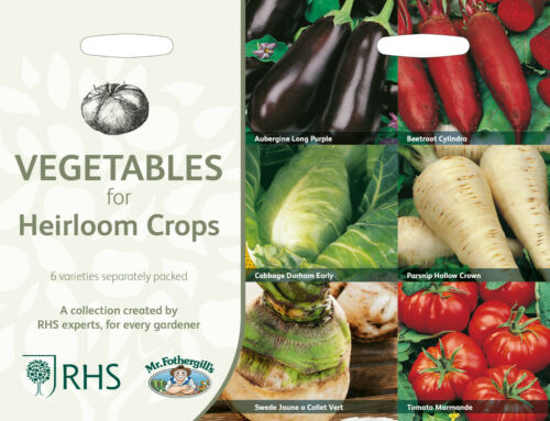 RHS Vegetables for Heirloom Crops Seed Collection