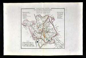 Details About 1818 D Anville Map Ancient Rome City Plan Roman Empire Forum Coliseum Baths