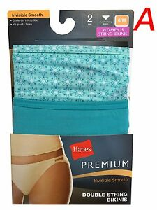 Hanes low rise string bikini women