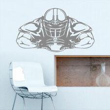 Z1843 Wall Decal Vinyl Sticker Decals Football Rugby Sport Helmet Man Muscule