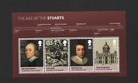 GB 2010 HOUSE OF STUART MINIATURE STAMP SHEET MINT