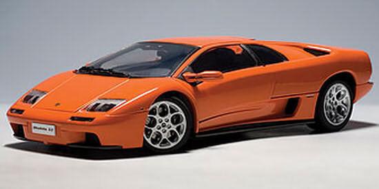 Lamborghini Diablo 6.0 Naranja 1:18 por Autoart 74527 Totalmente Nuevo En Caja