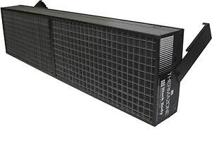 Bbc thermazone black body electric infrared garage heater for Infrared garage heaters