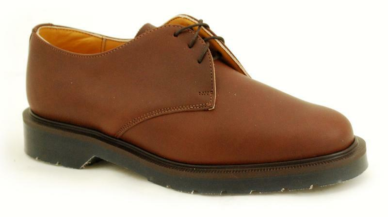Solovair NPS shoes Made in England 3 Eye Tan shoes S022-L3995COPT