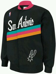 eaf8292a1ea Authentic NBA Mitchell   Ness San Antonio Spurs Vintage warm-up ...