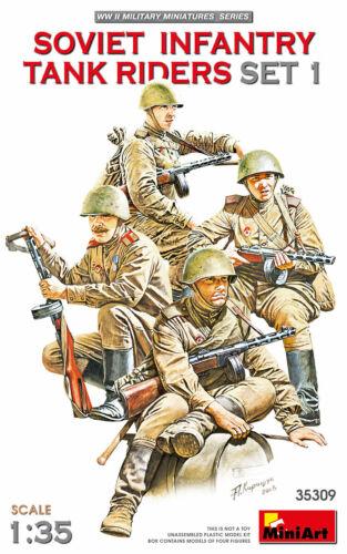 WWII Mini Art 35309 Model kit 1//35 SOVIET INFANTRY TANK RIDERS SET 1