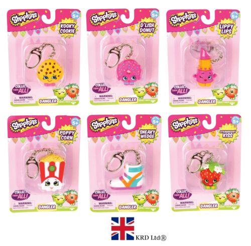 SHOPKINS KEYRINGS Danglers Keychains Bag Charms Key Ring Chain Christmas Gift UK