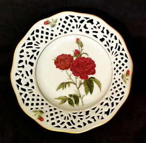Teller-Arzberg-Schumann-No-VIII-Rosa-Gallica-Porzellan-germany-pottery