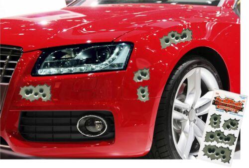 15 Bullet Holes Strafe Vinyl Car Helmet Removable Stickers 5-9cm width