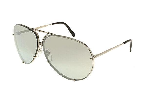d3fea72c6f Porsche Design P8478 B 69 Titanium Silver Mirror Interchangeable Sunglasses  for sale online
