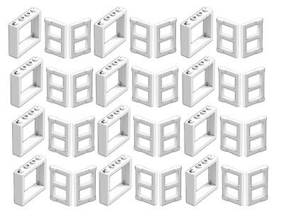 ☀️LEGO LOT OF 12 NEW BLACK 1 X 4 X 3 WINDOWS W// White Panel Pane TOWN CITY HOUSE