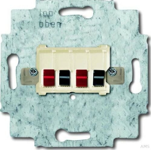 weiß 0248//02-101 Busch-Jaeger Lautsprecher-Anschlussdose 2fach