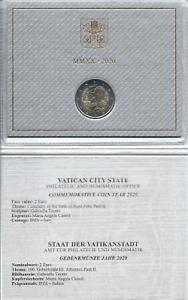 1x 2 euro commémorative Vatican 2020 (Pape Jean-Paul II) sous coffret BU