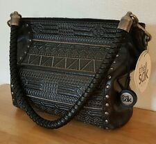THE SAK Indio Leather Black Purse Handbag #105785 New With Tag *READ*