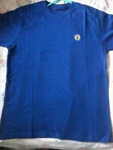 Mens-blue-Fosters-t-shirt-L-New