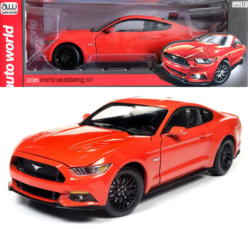2016 FORD FORD FORD MUSTANG GT Coupé Orange 1:18 Auto World ERTL aw242 | élégant  949935