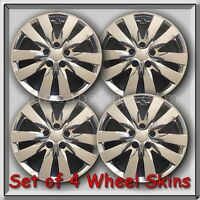 Set Of 4 Chrome 17 Wheel Skins Hubcaps Fits 2011-2012 Forte Chrome Wheel Covers