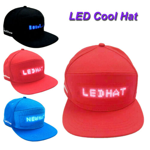 Fashion Cap LED Cool Hat with Screen Light waterproof Smartphone Controlled ca