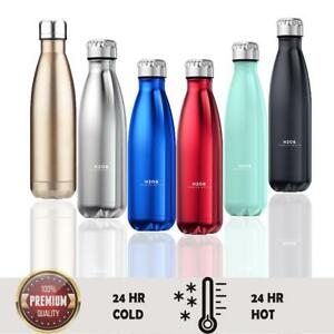 Insulated-Water-Bottle-Thermal-Double-Wall-Drink-Vacuum-Flask-350-500ml-Hot-Cold
