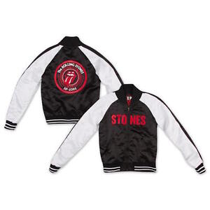 Details about The Rolling Stones Zip Code Tour Official Mens College Varsity Jacket