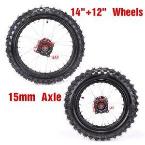 Dirt Pit Bike Wheel Axle 15 mm Honda XR50 CRF50 SDG
