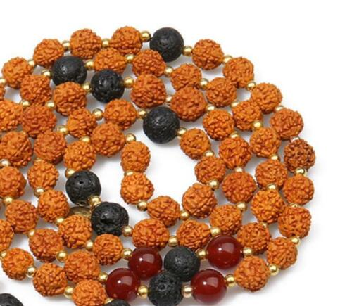 Natural Gemstone Beads Mala Noeud Colliers Yoga Tassel Lucky Prière Bouddhiste