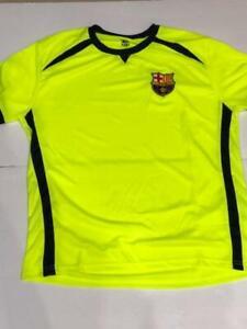 the best attitude b60ba b4cc0 FCB Barcelona SOCCER SHIRT - Lime Green - FCB   eBay