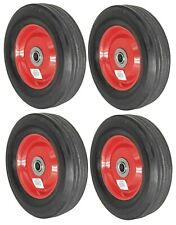 4pc 8 Replacement Solid Rubber Tire Amp Steel Wheel For Dolly Hand Truck Cart